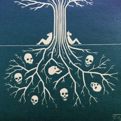 art collection linoprint rare print skull tree pagan magic