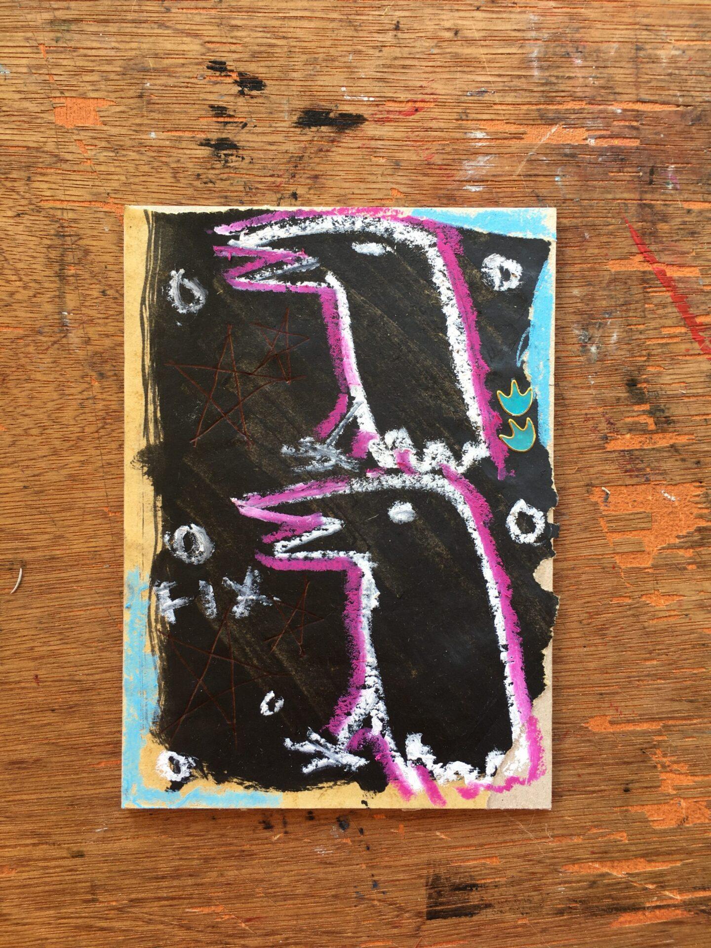 two crows fine art artist west wales carmarthen trans nonbinary