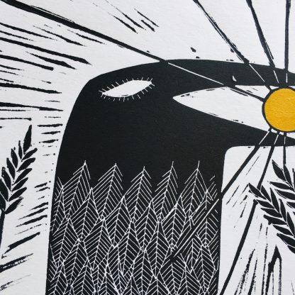 crow steals the sun corvid wales fine art