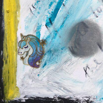 unicorn smudge yellow blue