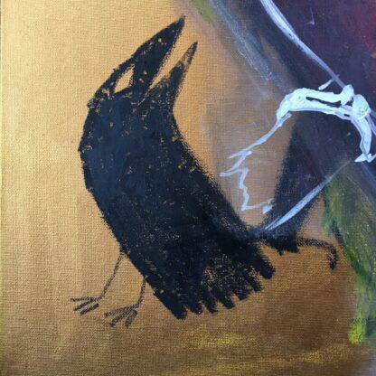 stylised crow red kite welsh artist
