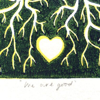reduction linoprint crows welsh artist magical pagan art